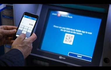 Withdraw cash from bank ATM without a bank card but just your PHONE